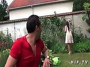 Asian French Emo Girl Gets Ass Fucked Outdoor