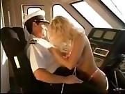 Jenna rides the captain