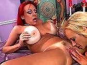 babe,  big tit,  blonde,  busty,  lesbian,  milf,  rough,  toys,  vibrator