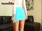 Lovely Blonde In A Short Skirt