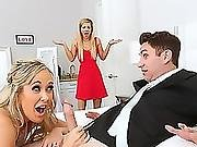 Kinky Bride Brandi Tastes A Young Hunks Cock Before Her Wedding