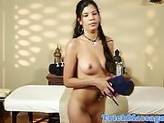 Finger Banged Massage Babe Sucks Hard Cock