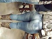 Huge! Latina Milf Ass In Boots N Tight Jeans With Teen Daughter W/ Nice Ass