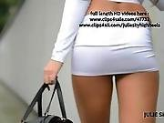 Best Hooker On The Planet In Lycra Miniskirt & Nude Belly Exhibitionist Slu