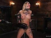 Blonde Submissive Bombshell Gets Punished And Pleasure