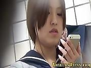 Japanese Teen Rubs Muff