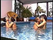 Double Penetration Orgy By The Swimming Pool