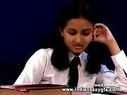 Horny Indian Pornstar Babe As School Girl Squeezing Big Boobs And Babe Masturbating Part1 - Indian