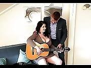 Bbw Plays Guitar And Skin Flute