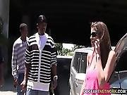 Brooklyn Chase%27s First Interracial Gangbang