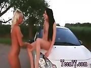Russian lesbian strapon xxx teens spreading