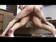 Big Breasted Brunette Getting Couch Abused Unwillingly