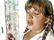Perv Salesman Playing With Naughty Schoolgirl No 1
