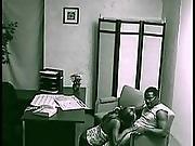 black,  couple,  ebony,  fucking,  security cam