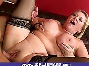 Meaty Mature Blonde Fucked And Creamed