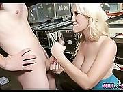 Blonde Pinball Milf Works Younger Dick