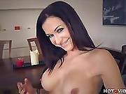 Big Tits Milf Finger Fucks On Table