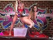 Piss Loving Lesbians Having Fun On Pool Table