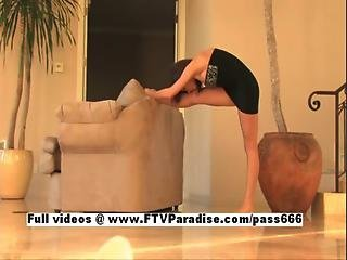 Ingenious Samantha Adorable Babe Teasing Herself And Dancing