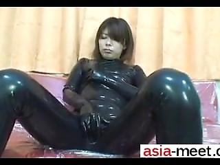 Date Her On Asia-meet.com - Japanese Latex Catsuit 19