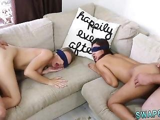 Two Teens Fuck Daddy And Dad Learns Friends Daughter To Fight First Time