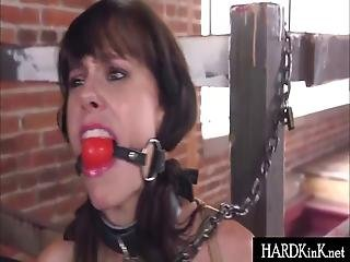 Chained Teen And Milf Tied And Fucked