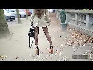 Walking And Shoe Play In Extreme 20cm Dangerous Heels Julie