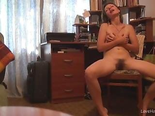 Shelle Rubs Her Pussy Home Alone