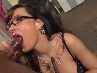Lisa Ann Blows Big Black Cock