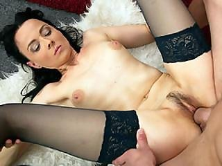 Young Stud Banging A Hot Brunette Mom