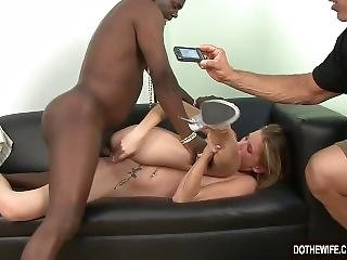 Blonde Wife Fucked By Black Guy