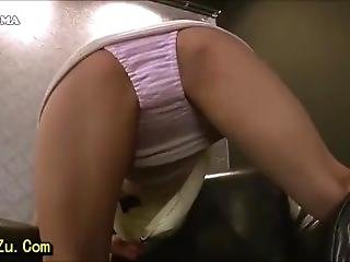 Asian Upskirt Panty Tease And Showing Tits For No Reason
