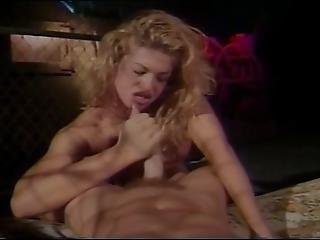 Curly Haired Bimbo Loves The Deep Stick