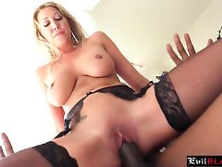 Busty Blonde Milf With Huge Tits Getting Her Tight Cunt Slammed Hard By A Bbc