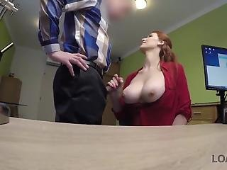 Loan4k. Buxom Ginger Is Fucked Hard At Casting Performed By Agent