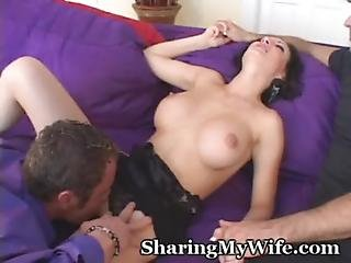 Blowjob, Brunette, Foreplay, Legs, Lick, Old, Pussy, Wife