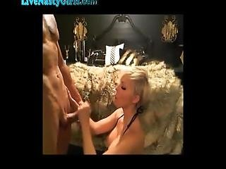 Drunk Blonde Webcam Girl Gets Fucked