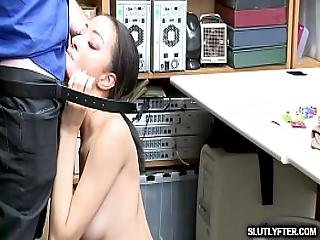 The Lp Officers Massive Cock Plowing Scarlett Blooms Pussy From Behind