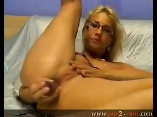 Stunning Slovak Blonde Anal Toy