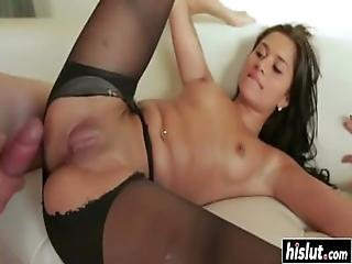 Giselle Mari Wears Sexy Pantyhose While Fucking