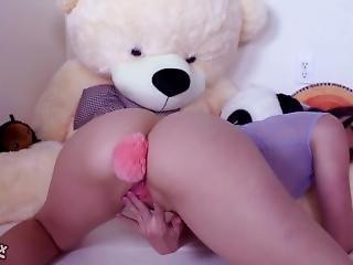 anal, bonasse, brunette, cul, buttplug, masturbation, Ados, Ados Anal, jouets, webcam