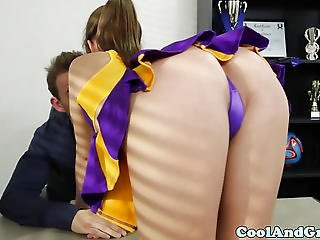 Babe, Cheerleader, Coach, Cum, Cum Swallow, Desk, Dick, Jizz, Oral, Petite, Pussy, Sucking, Swallow, Tattoo, Trimmed, Uniform, Young