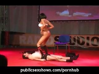 Provocative Stripper Getting Naked