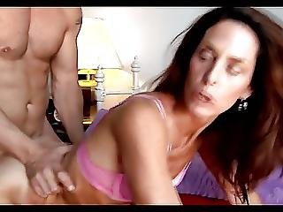 Skinny Cougar Persuases Younger Man