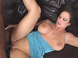 Big Tit White Cougar Goes Crazy With Big Black Dick
