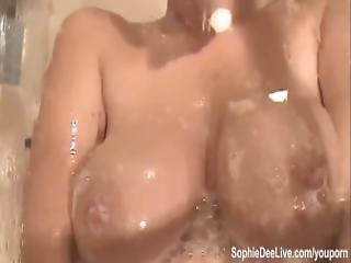 Big Tit Sophie Dee Plays With Toys In The Shower