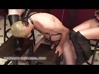Madame Ctarina Showing Her Friend How To Torture A Male Slave