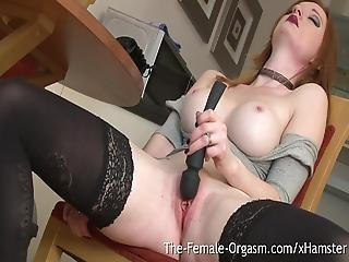 Natural Redhead Vibes Firebush To Contracting Orgasm
