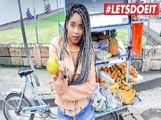 Letsdoeit Ebony Latina Tricked Into Sex By Horny Students