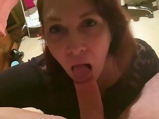 Sexy Wife Sucks Cock And Takes Cum In Her Mouth In This Homemade Blowjob Filmed In Pov